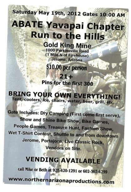 29 ABATE Run to the Hills Poster with Don