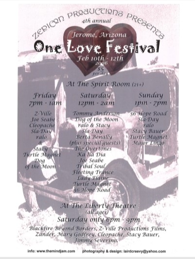 8 One Love Jerome 2006 Flier